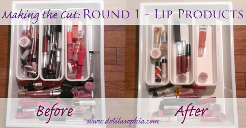 DelilaSophia: Making the Cut Round 1 Lip Products
